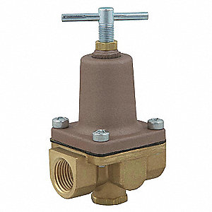 "LF26A Series 2-1/8""L Lead Free Brass Pressure Regulator, 10 to 125 psi"
