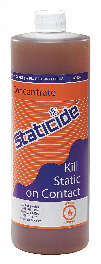 Anti-Static Concentrate,  32 oz,  1 qt,  1:39 or 1:99 Recommended Dilution