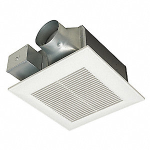 Panasonic 10 1 4 x 10 1 4 x 5 5 8 low profile bathroom ventilation fan 80 110 cfm 0 for Low profile bathroom exhaust fan