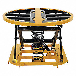 SPRING SCISSOR TABLE 4,500 LB CAP