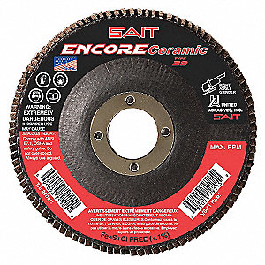 FLAP DISC ENCORE CER T29 5X7/8 40X