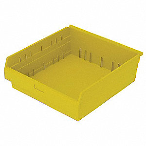 Shelf Bin,23-5/8 x 22.5 x 8,Yellow