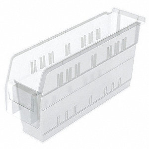 "Shelf Bin, Clear, 8""H x 15-5/8""L x 4-1/8""W, 1EA"