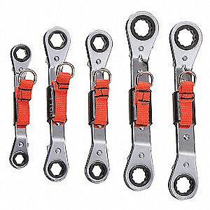 Box End Wrench Set,5 Pieces,6, 12 Pts