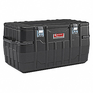 "23-7/8"" x 25-3/4"" x 48"" Jobsite Box, 13.3 cu. ft., Black"