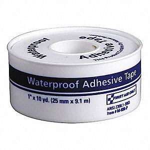 "Waterproof Tape, White,  WP1"" W, 10 yd. L"