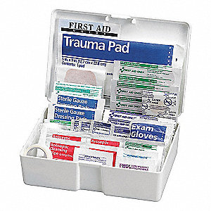 First Aid Kit,Plastic,81 Pieces