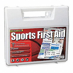First Aid Kit, Kit, Plastic Case Material, Sports, 15 People Served Per Kit