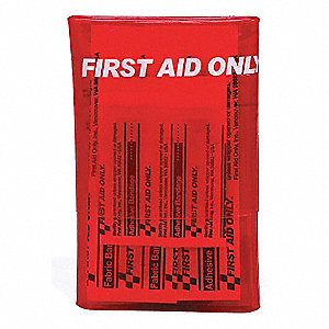 First Aid Kit, Kit, PVC Case Material, General Purpose, 1 People Served Per Kit