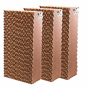 "Evaporative Cooler Pad, 24""H x 12""W x 6""D, Residential/Commercial/Industrial"