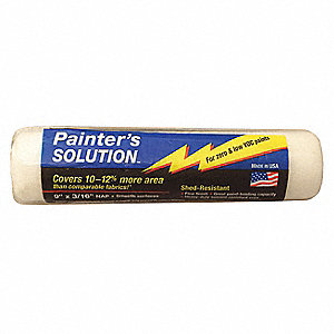 Paint Roller Cover,9 In,Nap 3/16 In