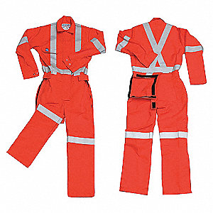 POLY COTTON COVERALL ORANGE 2XL