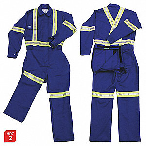 FR COVERALL, ROYAL BLUE, XL