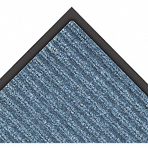 Blue Needle-Punched Yarn, Entrance Mat, 3 ft. Width, 4 ft. Length