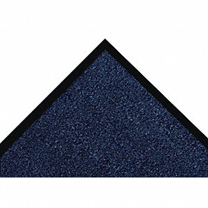 "Indoor Entrance Mat, 4 ft. L, 3 ft. W, 5/16"" Thick, Rectangle, Navy"