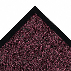 Carpeted Entrance Mat,Burgundy,2ft.x3ft.