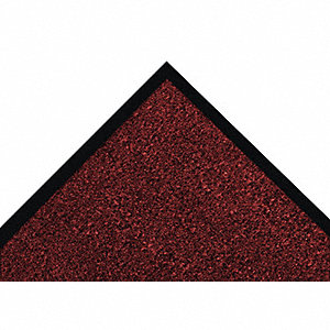 Red/Black Decalon® Fiber, Entrance Mat, 3 ft. Width, 4 ft. Length