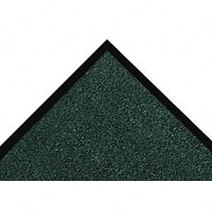 Carpeted Entrance Mat,Hunter Green,3x5ft
