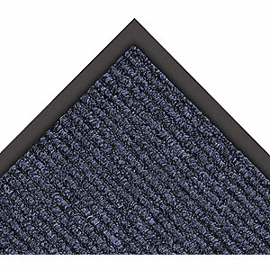 Carpeted Entrance Mat,Navy,3ft. x 6ft.