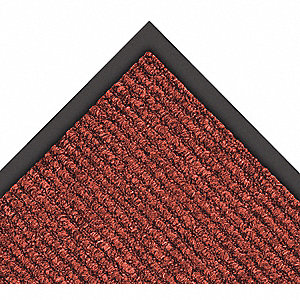 Red/Black Decalon® Yarn, Entrance Runner, 6 ft. Width, 60 ft. Length