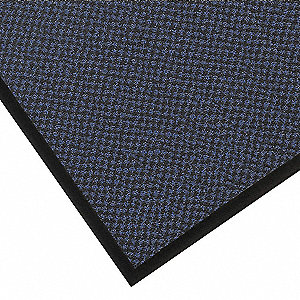 Carpeted Entrance Mat,Blue,3ft. x 5ft.