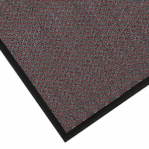 "Indoor Entrance Runner, 3 ft. L, 24"" W, 5/16"" Thick, Rectangle, Red/Black"