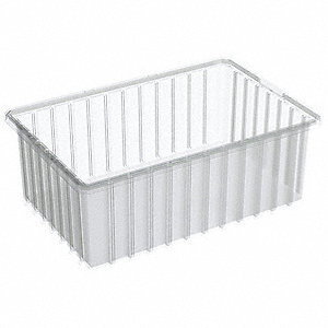 Divider Box,16-1/2 x 10-7/8 x 6 In,Clear
