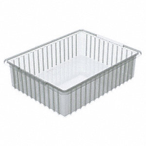 Divider Box,22-3/8 x 17-3/8 x 6 In,Clear