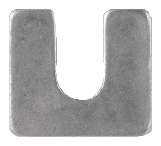 Steel Slotted Shim, 0.125 in