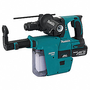 Cordless Rotary Hammer Kit, 18.0 Voltage, 0 to 4700 Blows per Minute, Battery Included