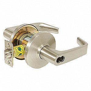 Lever Lockset, Mechanical, Dormitory, Grd.1