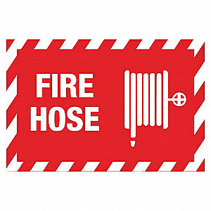 "Fire Equipment, Polyester, 7"" x 10"", Surface"