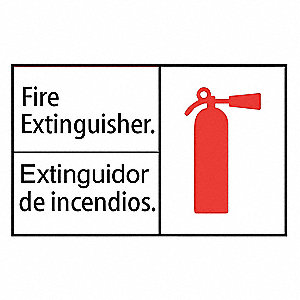 "Fire Equipment, Plastic, 7"" x 10"", Surface"