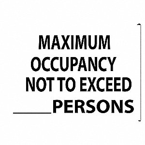 Facility Sign,10 in. H,Black/White,Text