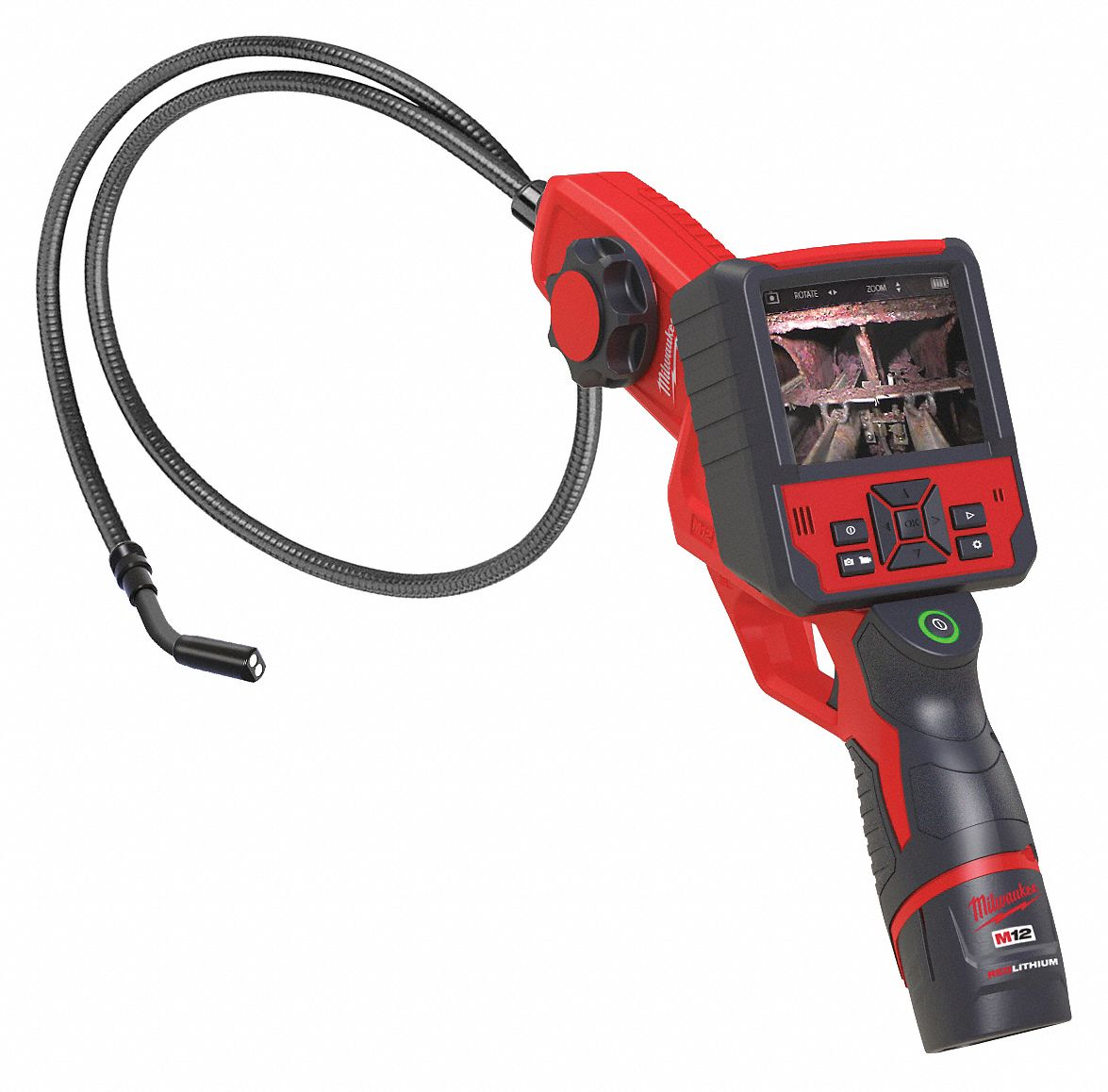 M12 Video Borescope 36 In Shaft MILWAUKEE 2313-21 2.7 In