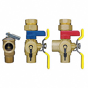 "3/4"" Brass Tankless Water Heater Service Valve"