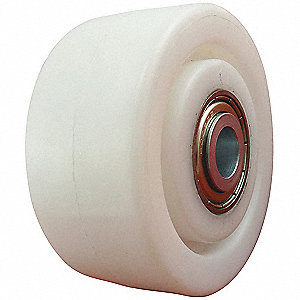 "3"" Caster Wheel, 660 lb. Load Rating, Wheel Width 1-1/4"", Nylon, Fits Axle Dia. 1/2"""