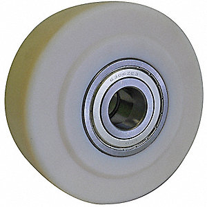 "5"" Caster Wheel, 4400 lb. Load Rating, Wheel Width 2-1/8"", Cast Nylon, Fits Axle Dia. 3/4"""
