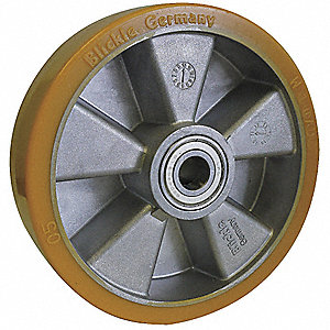 "5"" Caster Wheel, 990 lb. Load Rating, Wheel Width 2-1/8"", Polyurethane, Fits Axle Dia. 3/4"""