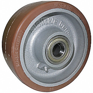 "5"" Caster Wheel, 1540 lb. Load Rating, Wheel Width 2-3/8"", Polyurethane, Fits Axle Dia. 1/2"""