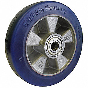 "6-1/4"" Caster Wheel, 1210 lb. Load Rating, Wheel Width 2"", Polyurethane, Fits Axle Dia. 1/2"""