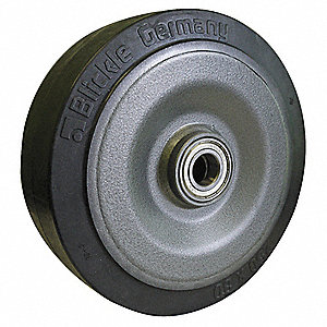 "12"" Caster Wheel, 2200 lb. Load Rating, Wheel Width 3"", Rubber, Fits Axle Dia. 1-9/50"""