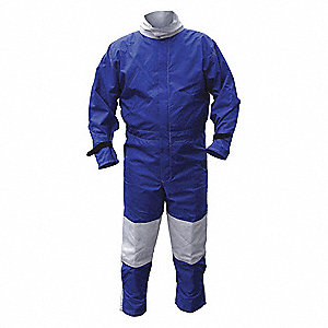 Abrasive Blast Suit,Blue,X-Large