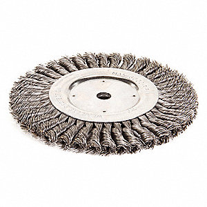 Twist Wire Wheel Brush,Arbor,8 In.
