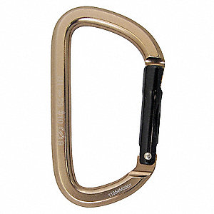 Carabiner,Nonlocking,Alum,Strength 23 KN