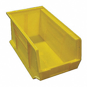 "Large Bin,Plastic,Yellow,8-1/4"" W"
