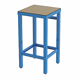 Square Stool and 250 lb. Weight Capacity, Charcoal Gray