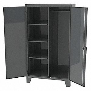 "Heavy Duty Storage Cabinet, Charcoal, 84"" H X 36"" W X 24"" D, Unassembled"