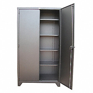 "Heavy Duty Storage Cabinet, Charcoal, 82"" H X 36"" W X 24"" D, Unassembled"