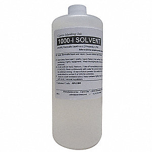 Solvent For 1000-I with Solvent Base Type and 30 to 60 sec. Dry Time, Clear